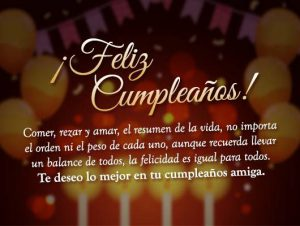 Rezo por ti feliz cumpleaños amiga
